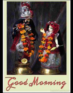 New Radha krishna love good morning image