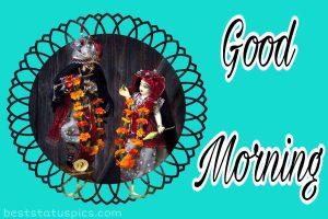 radha krishna ki good morning image