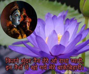 radha krishna attitude love status photo with lotus flower
