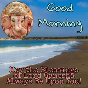 good morning jai ganesh images with quote for whatsapp