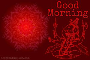 good morning ganesh ji ka wishes photo for whatsapp profile DP