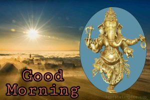 good morning with ganesh ji pic for whatsapp dp profile