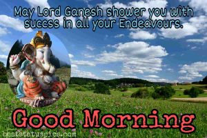 good morning god ganesh images hd with quote