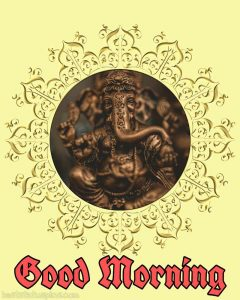 ganpati bappa good morning images for whatsapp