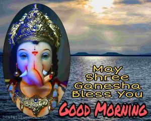 good morning images with shree ganesh quote for whatsapp