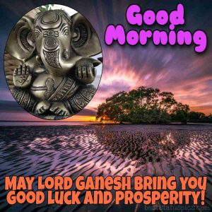 good morning images with lord ganesha quote and status