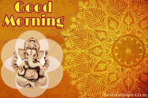 good morning images with god ganesh pic for whatsapp and fb