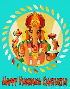 happy vinayaka chaturthi 2020 wishes images with lord ganesha for Whatsapp Status