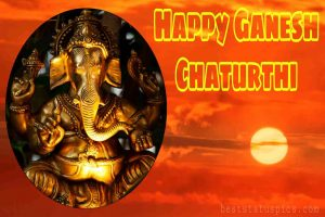 cute happy ganesh chaturthi 2020 card images for Whatsapp DP