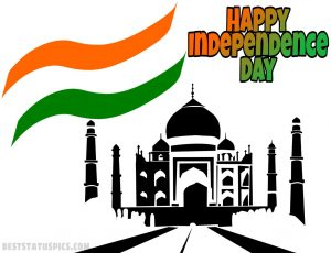 images for happy independence day 2020 with taj mahal and flag