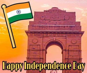 happy independence day 15 august 2020 wishes image with india gate