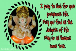lord ganesha whatsapp wallpaper and DP with quotes and status