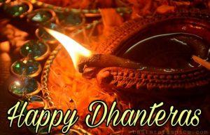 happy dhanteras 2021 ki image with pradip, diya HD