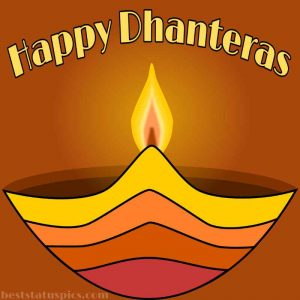 happy dhanteras 2021 wishes picture with diya and light