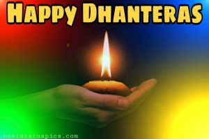 happy dhanteras 2020 wishes images HD with diya