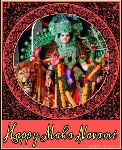 Happy maha navami images HD download, wishes and greeting cards for durga puja 2020