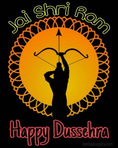 happy dussehra 2020 ki pic with jai shri ram quotes for Whatsapp