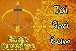 happy dussehra 2020 ke photo with jai shri ram quotes for whatsapp status