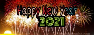beautiful happy new year 2021 wishes images with firework for facebook cover pic
