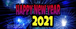 beautiful happy new year 2021 status photo with firework for facebook cover and status