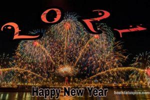 creative happy new year 2021 status photos with amazing firework