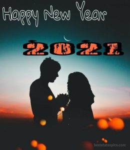 beautiful happy new year 2021 with romantic love couples photo