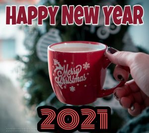 merry christmas and happy new year 2021 hd images with coffee mug