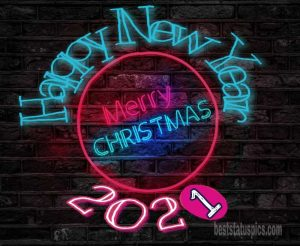 Amazing merry christmas and happy new year 2021 for friends