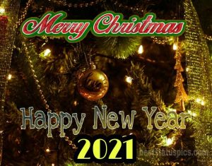 Wonderful merry christmas and happy new year 2021 for family and friends