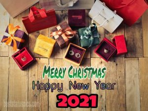 Wonderful merry christmas and happy new year 2021 picture for love