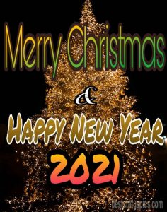 merry christmas and happy new year 2021 hd images with christmas tree