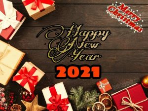 Cute merry christmas and happy new year 2021 quote image and card download