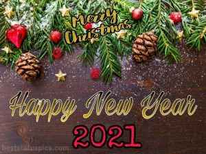 merry christmas and happy new year 2021 card messages