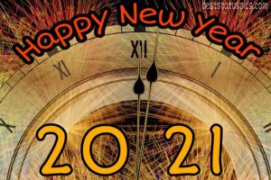 happy new year 2021 with 12 o clock watch wallpaper HD for Whatsapp
