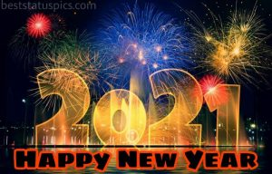 happy new year 2021 with fireworks photo download for Whatsapp status