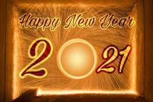 happy new year 2021 with fireworks image download for Whatsapp DP