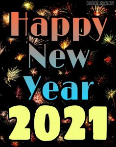 beautiful happy new year 2021 with image HD download