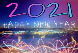 happy new year 2021 greeting cards with light and fireworks for Whatsapp Images HD