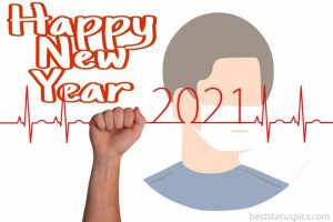 happy new year 2021 wishes with mask man images