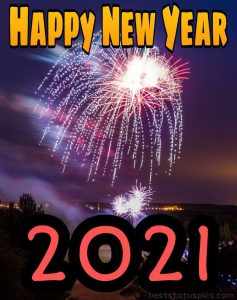 happy new year 2021 wishes with fireworks images HD