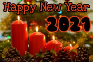 happy new year 2021 wishes with candle light pictures for Whatsapp Status