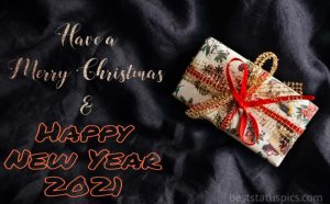Sweet merry christmas and happy new year 2021 wishes with gift box images for Whatsapp DP