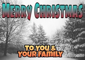 Cute merry christmas 2021 wishes to you and your family with photo and short sms text