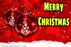 merry christmas 2021 greetings for friends and family with xmas balls