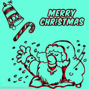 merry christmas 2020 wishes for friends with santa claus pic