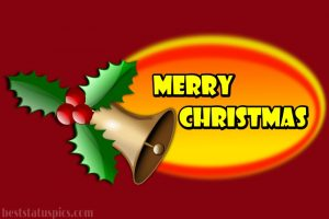 merry christmas 2021 wishes with xmas bell photo for family