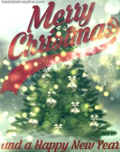 Sweet merry christmas and happy new year 2021 wishes images HD with xmas tree for Whatsapp