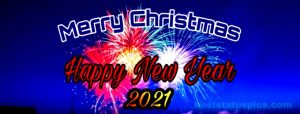 Merry Christmas and happy new year 2021 wishes for facebook cover pic
