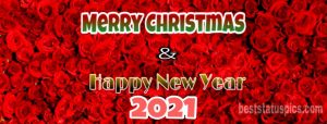 Merry Christmas and happy new year 2021 wishes for facebook cover and timeline