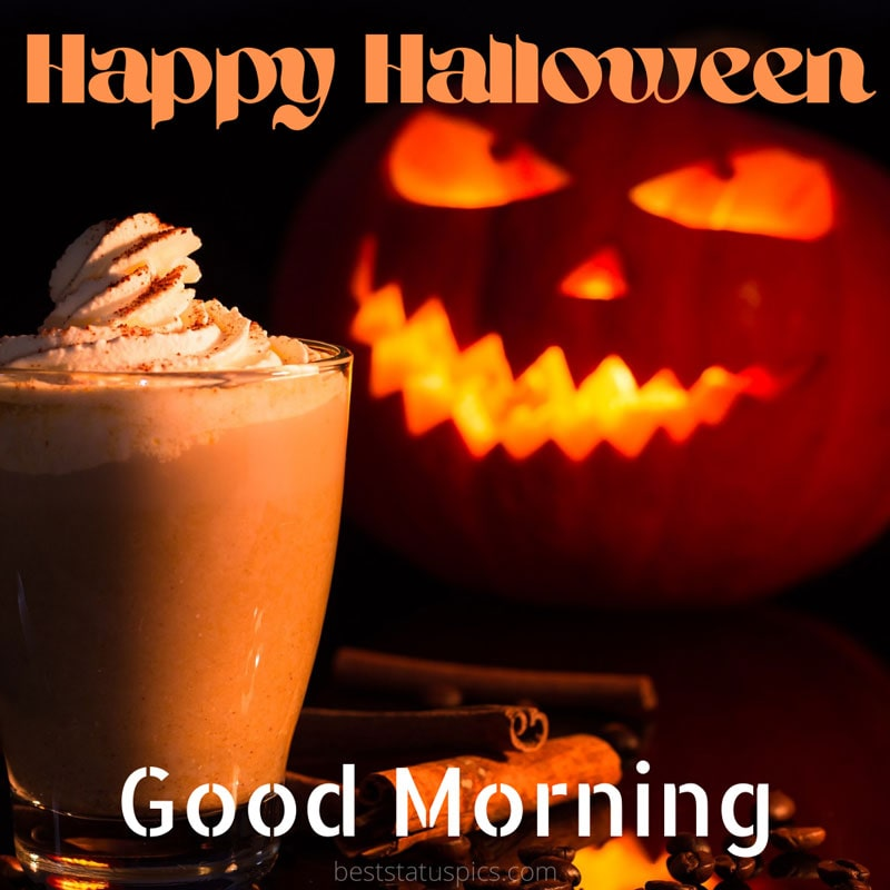 Happy Halloween Good morning 2021 greeting images